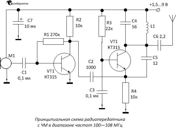 ЧМ передатчик 100 — 108 МГц
